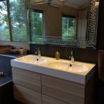 Double sink in luxury bathroom