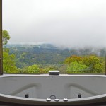 Spa bath view Romantic getaway