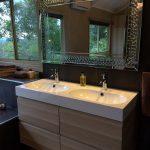 Double sink in luxury bathroom