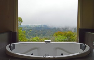 Spa bath view Romantic getaway